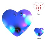 Love In Action, Pink, Purple, Blue Heartbeat Playing Cards (Heart)