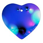 Love In Action, Pink, Purple, Blue Heartbeat Heart Ornament (Two Sides)
