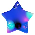 Love In Action, Pink, Purple, Blue Heartbeat Star Ornament (Two Sides)