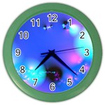 Love In Action, Pink, Purple, Blue Heartbeat Color Wall Clock