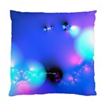 Love In Action, Pink, Purple, Blue Heartbeat Standard Cushion Case (Two Sides)