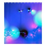 Love In Action, Pink, Purple, Blue Heartbeat Shower Curtain 66  x 72  (Large)