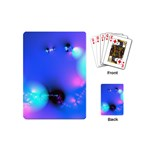 Love In Action, Pink, Purple, Blue Heartbeat Playing Cards (Mini) Back