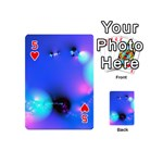 Love In Action, Pink, Purple, Blue Heartbeat Playing Cards 54 (Mini) Front - Heart5