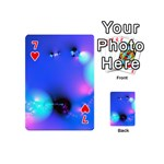 Love In Action, Pink, Purple, Blue Heartbeat Playing Cards 54 (Mini) Front - Heart7