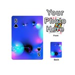 Love In Action, Pink, Purple, Blue Heartbeat Playing Cards 54 (Mini) Front - Spade5