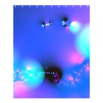Love In Action, Pink, Purple, Blue Heartbeat Shower Curtain 60  x 72  (Medium)