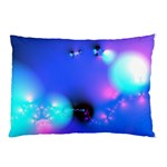 Love In Action, Pink, Purple, Blue Heartbeat Pillow Case (Two Sides) Back