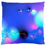 Love In Action, Pink, Purple, Blue Heartbeat Large Flano Cushion Case (Two Sides) Back