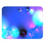 Love In Action, Pink, Purple, Blue Heartbeat Double Sided Flano Blanket (Large)   Blanket Back