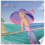 Palm Beach Purple, Fine Art Printed Product, Wearable art, Sharon Tatem Fashion,Apparel and Products Canvas 16  x 16