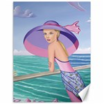 Palm Beach Purple, Fine Art Printed Product, Wearable art, Sharon Tatem Fashion,Apparel and Products Canvas 18  x 24