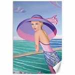 Palm Beach Purple, Fine Art Printed Product, Wearable art, Sharon Tatem Fashion,Apparel and Products Canvas 24  x 36