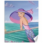 Palm Beach Purple, Fine Art Printed Product, Wearable art, Sharon Tatem Fashion,Apparel and Products Canvas 11  x 14