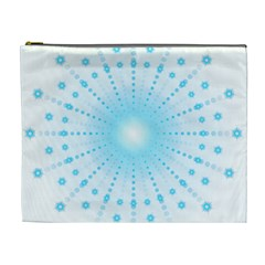 Blue Firework Cosmetic Bag (xl) by Bejoart