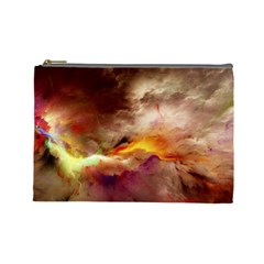 Abstract 3d Graphics Psychedelic Nebula Space Cosmetic Bag (large) by Bejoart