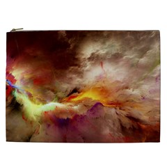 Abstract 3d Graphics Psychedelic Nebula Space Cosmetic Bag (xxl) by Bejoart