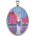 Palm Beach Perfume Art Collection Oval Necklace