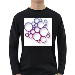 Circle Graphic Long Sleeve Dark T Shirt