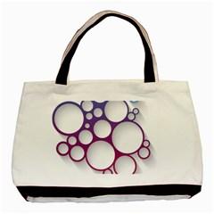 Circle Graphic Basic Tote Bag