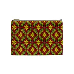 Abstract Floral Pattern Background Cosmetic Bag (medium)