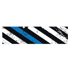 Usa Flag The Thin Blue Line I Back The Blue Usa Flag Grunge On Black Background Satin Scarf (oblong) by snek