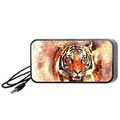 Tiger Portrait Art Abstract Portable Speaker