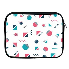 Round Triangle Geometric Pattern Apple Ipad 2/3/4 Zipper Cases