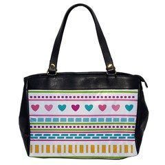 Geometry Line Shape Pattern Oversize Office Handbag