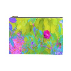 Red Rose With Stunning Golden Yellow Garden Foliage Cosmetic Bag (large)