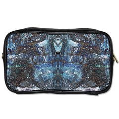 Angel Wings Blue  Toiletries Bag (two Sides) by CrypticFragmentsDesign