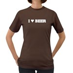 I Love Beer Cool Drink Food Retro Women s Color T-Shirt