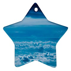 Cloudy Sky Star Ornament (two Sides) by TimelessDesigns