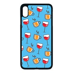 Cups And Glasses Blue Apple Iphone Xs Max Seamless Case (black) by TimelessDesigns