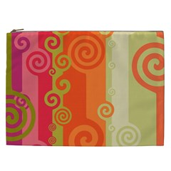 Curly Stripes Cosmetic Bag (xxl)