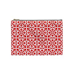 Background Card Checker Chequered Cosmetic Bag (medium)