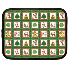 Christmas Paper Christmas Pattern Netbook Case (xl)