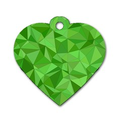 Mosaic Tile Geometrical Abstract Dog Tag Heart (one Side)