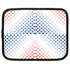 Dots Pointillism Abstract Chevron Netbook Case (large) by Pakrebo