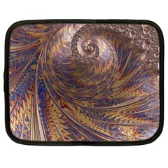Swirl Fractal Fantasy Whirl Netbook Case (large) by Pakrebo