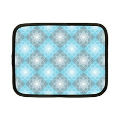 White Light Blue Gray Tile Netbook Case (small) by Pakrebo