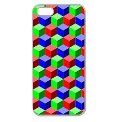 Colorful Prismatic Rainbow Apple Seamless Iphone 5 Case (clear) by Alisyart