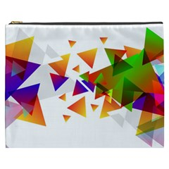 Abstract Triangle Cosmetic Bag (xxxl) by Jojostore