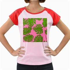 Leaves Tropical Plant Green Garden Women s Cap Sleeve T-shirt by Alisyart