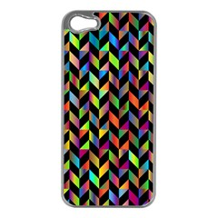 Abstract Geometric Apple Iphone 5 Case (silver) by Mariart