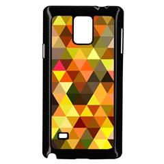 Abstract Geometric Triangles Shapes Samsung Galaxy Note 4 Case (black) by Mariart