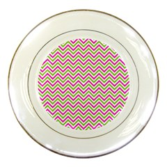 Abstract Chevron Porcelain Plates