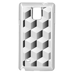 Cube Isometric Samsung Galaxy Note 4 Case (white) by Mariart