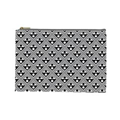 Background Triangle Circle Cosmetic Bag (large) by Jojostore