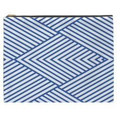 Directional Lines Stripes Movement Cosmetic Bag (xxxl) by AnjaniArt